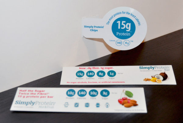 Simply Protein Shelf Talkers